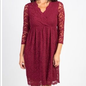 Lace Overly Wrap Dress